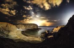 Papagayo Beach (Lanzarote) (mr.martino) Tags: milkyway lanzarote stars night landscape panorama ocean beach