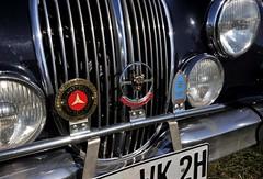 Badge bar on a MkII (Pim Stouten) Tags: arden british car auto wagen pkw vhicule macchina burgzelem badges jaguar jag mark2 markii saloon sedan schild