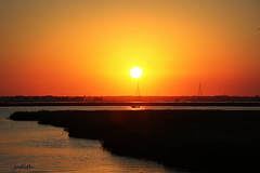 sunset cruising (judecat (back with the pride)) Tags: bay speedboat wildwood newjersey
