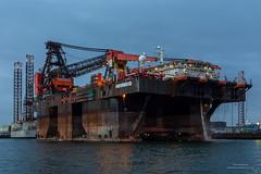 SSCV Hermod (Peet de Rouw) Tags: heerema sscvhermod crane cranevessel offshore kraanschip botlek keppelverolme scheepswerf shipyard portofrotterdam port rotterdam rotterdamsehaven rozenburg holland netherlands