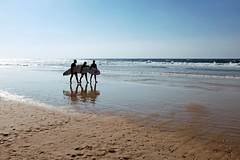 trio, Israel (pdvgna) Tags: shore beach fujifilmx100s seaside sand surfer israel