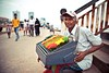 Colored Sunday (Dihan_DS) Tags: old man color colour sitting vendor srilanka sell colombo galleface katussa tourismsrilanka