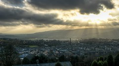 View over Haslingden (Johnners61) Tags: lumix cloudy lancashire panasonic sunburst hdr rossendale haslingden lx5