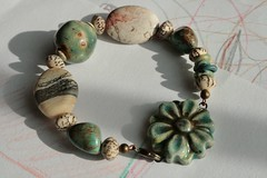 JanABS (pearlandpebble) Tags: glass stone ceramic pebble bracelet pearl janabs janabbracelet