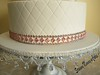 Fantasy Flower Wedding Cake 5 (Scrummy Mummy's Cakes) Tags: white weddingcake twotier fantasyflower pearlpink jeweltrim