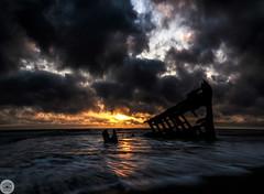 16 of 365 Shipwreck (Tanner Wendell Stewart) Tags: ocean sunset nikon nw ship pacific northwest pacificocean shipwreck astoria oregoncoast pnw astoriaoregon a21 todaymightbe fortstevensshipwreck northwestisbest thea21campaign shoottheskies tannerwendllstewart ftstevensshipwreck