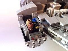 Micro-Fig Millennium Falcon - Cockpit 2 (Flynn2000) Tags: star starwars back lego luke millennium solo return r2d2 micro empire falcon jedi wars strikes han chewbacca c3po skywalker obiwan kenobi fbtb microfig palpatinesshrinkomaticraycontest