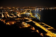 My Golden Town (Paulo N. Silva) Tags: portugal night river lights setubal sado