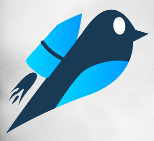Blue Bird With Jetpack by DashBurst, on Flickr
