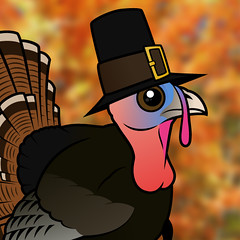 Gobble gobble! Birdorable Wild Turkey (birdorable) Tags: thanksgiving cute bird hat turkey turkeyday pilgrim wildturkey birdorable