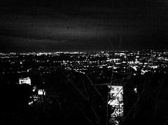 nightview (SS) Tags: camera italy rome apple monochrome lights tivoli 4 iphone ss