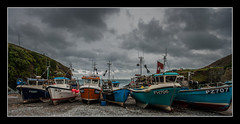 Fishing boats at Cadgwith Cove (Travels with a dog and a Camera :)) Tags: uk sea england sky southwest west digital photoshop boat dc seaside fishing october cornwall pentax unitedkingdom south sigma andrew lizard 1020mm fishingboat bennett seaview 43 2012 lightroom cadgwith andrewbennett cs6 1456 k20d justpentax pentaxk20d sigma1020mm1456dc photoshopcs6 lightroom43