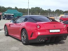 Ferrari 599 GTO red (J.M.Supercars) Tags: from red black france rouge switzerland track noir dijon parking ferrari pit lap most stop lane gto toit limited edition circuit powerful bourgogne alonso rare malade 2012 sportscars supercars v12 599 rves denfants prenois