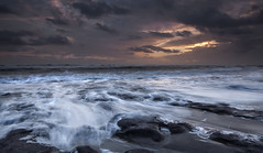 Stormy Monday (Elidor.) Tags: sea sky rock clouds sunrise dawn tide wave stormy filter berwickupontweed spittal d90 silverrainbow