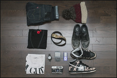 My Daily Essentials (LSean) Tags: black leather laughing canon skinny belt ipod purple daily nike essential levi commuter beanie avenue nano unkle saks levis distressed canonet ql17 sb 3m burberry fifth essentials dunkle 511 uniqlo janoski