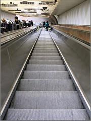 Going Down (Read2me) Tags: stairs silver underground escalator pregame tstation gamewinner challengeyouwinner friendlychallenges thechallengefactory agcgwinner cyunanimous superherochallengewinner