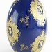 196. Large Porcelain Egg with Gilt Decoration on Cobalt Glazed Ground