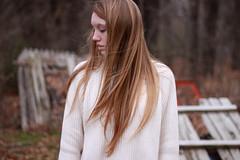 Remember (adri_radiance) Tags: winter cold 50mm sweater wind bokeh longhair blonde breeze