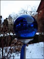 Day 53 (kostolany244) Tags: life blue snow glass germany garden outside europe february day53 geo:country=germany kostolany244 3652013 canonixus500hs 365the2013edition life2013 2222013 stillwinteroutside