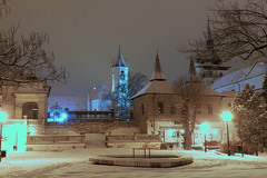 2013-02-23 Snow Evening in Teplice 1 (beranekp) Tags: winter snow church night czech kirche kostel teplice teplitz