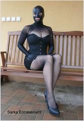 P2250005f (Sarka Encasement) Tags: black mask latex nylon encasement
