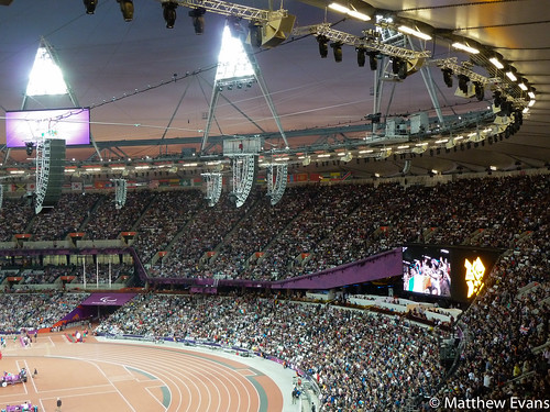 Inside the Olympic Stadium