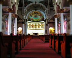 Church (StirlingCreative.com) Tags: church mural christ god religion jesus statues chapel altar angels isle pews