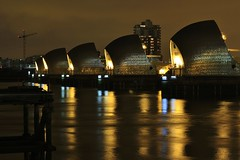 Thames Barrier (will668) Tags: longexposure orange color colour reflection water thames reflections river glow nightshot explore reflected reflect glowing riverthames shimmer nationalgeographic thamesbarrier environmentagency yourpicturesstunningnightscenes