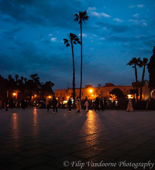 Marrakesh evening on the Koutoubia square (filipmije) Tags: evening morocco palmtree marrakech marrakesh streetshot