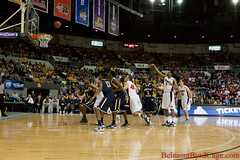 Belmont vs. Murray  State (Belmont Byrd Cage) Tags: blue red basketball ian tn nashville state belmont tennessee trevor johnson rick cage tournament finals bruins ncaa murray auditorium municipal byrd canaan kerron noack clrk