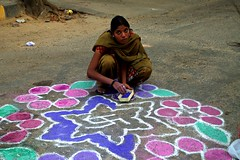 6 (akila venkat) Tags: street art colours patterns bangalore rangoli indianart