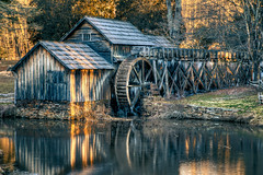 Mabry Mill 2 (sitheris) Tags: winter usa mill water sunrise landscape outdoors virginia landscapes us pond unitedstates va hdr blueridgeparkway gristmill mabrymill meadowsofdan burksfork