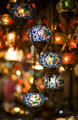 (Sotto Scatto) Tags: light color colour glass lamp turkey candles colore market muslim islam decoration istanbul arabic arab bazaar mercato luce bazar byzantine islamic vetro suk bizantino candele suq byzantium turchia grandbazaar lampadari colorato costantinopoli costantinople bizantini bisanzio