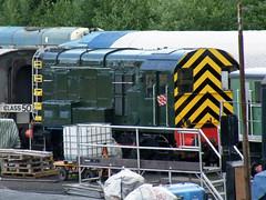 08133 Kidderminster 300612 (Dan86401) Tags: br diesel class ee 08 svr severnvalleyrailway shunter kidderminster englishelectric gronk 08133 brgreen