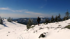 magaslat / high ground (debreczeniemoke) Tags: mountain snow landscape view hiking land hegy transylvania transilvania táj highground tájkép erdély hó túra kilátás magaslat kakastaréj canonpowershotsx20is gutinhegység munţiigutâi creastacocoşului munţiigutin