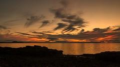 last night after sunset (tattie62) Tags: summer seascape water skyscape landscape evening coast scotland twilight edinburgh colours fife coastline arthursseat cloudscape lothian firthofforth gloaming eastlothian prestonpans
