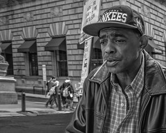 15th and Market Streets (Alan Barr) Tags: philadelphia 2016 marketstreet 15thstreet street sp streetphotography streetphoto blackandwhite bw blackwhite mono monochrome candid people panasonic lumix gx8
