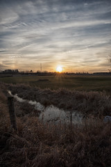 The Long Evening Goodnight (Brian Rome Photography) Tags: travel sunset country countryside farm farmland fenceline clouds ontario canada crops