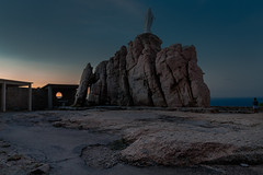 statue of Calvi (anthony.vairos) Tags: light blue hour bluehour sunrise rock statue landscape calvi island france summer beautiful colors vacation travel long exposure beau nikon d750 fullframe pleinformat dslr manfrotto tripod sigma art 24mm f14 sea