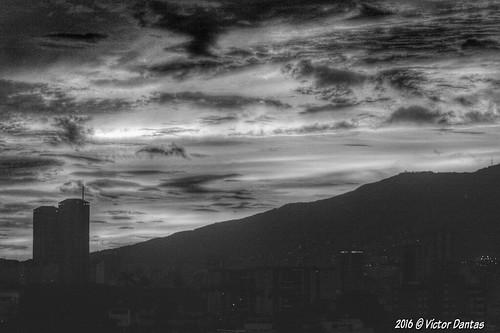Atardecer Caracas B/N