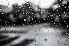 rainy day (sure2talk) Tags: rainyday rain window raindrops blackandwhite village nikond7000