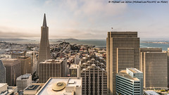 Super Wide San Francisco (DSC06292) (Michael.Lee.Pics.NYC) Tags: sanfrancisco aerial loewsregency skydeck transamericapyramid embarcaderocenter coittower alcatraz bay telegraphhill rooftops architecture cityscape sony a7rm2 voigtlanderheliar15mmf45