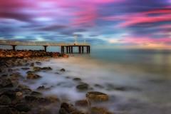 Pink (Anto Camacho) Tags: valencia castelln xilxes chilches longexposure pink waterscape landscape sea seascape bigstopper