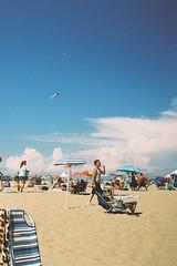 Kites in the sky (andrewkatchen) Tags: asburypark newjersey jerseyshore beach ocean nikon film 35mm portra400 n6006