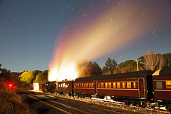 5917 Star Trail (peterreading) Tags: steam train tourist tour trip star night exposure startrail trail sky evening stabled coal water rail railway passenger nsw coffsharbour coramba overnight northcoast newsouthwales tourism lachlanvalleyrailway heritage vintage old historic history