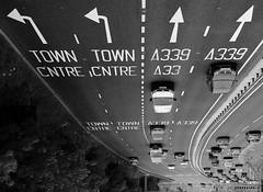 skyway (amazingstoker) Tags: car road monochrome basingstoke hampshire basingrad a339 white amazingstoke black transport dual carriageway arrow lane line barrier blackandwhite eastrop ring ringroad