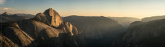 Last Light on Half Dome (Kurt Lawson) Tags: cables carved cliff clouds dome edge elcapitan forest glacially glacier glacierpoint granite half halfdome incredible king last light mount mountwatkins mt national nationalpark north northdome park point polished rock sentinel sentineldome sentinelrock sky starr starrking sub subdome summer sunset trees valley watkins yosemite panorama stitched pano otus zeiss sony metabones 85mm a7r2