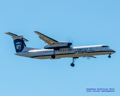 #Q400 on Final to #PDX (AvgeekJoe) Tags: alaskaair alaskaairlines bombardierdhc8402q bombardierdash8400 bombardierdash8q402 bombardierq400 d5300 dhc8402q dslr dash8 dehavillandcanadadhc8402qdash8 horizonair n430qx nikon nikond5300 other propliners q400 aircraft airplane aviation plane propliner turboprop dash8400 dehavillandaircraftofcanada dehavillandaircraftofcanadadash8400
