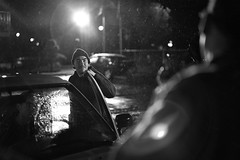directions (mental_digestion) Tags: leica leicam monochrome leicamonochrome bw blackandwhite setphotography bts setlife flare dramaticlighting rain truck rangefinder seattle reflections cinematic summilux wa street