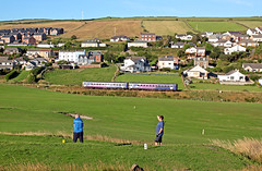 Fore....play (delticfan) Tags: stbees cumbriancoast northern northernrail golf 153 lass153